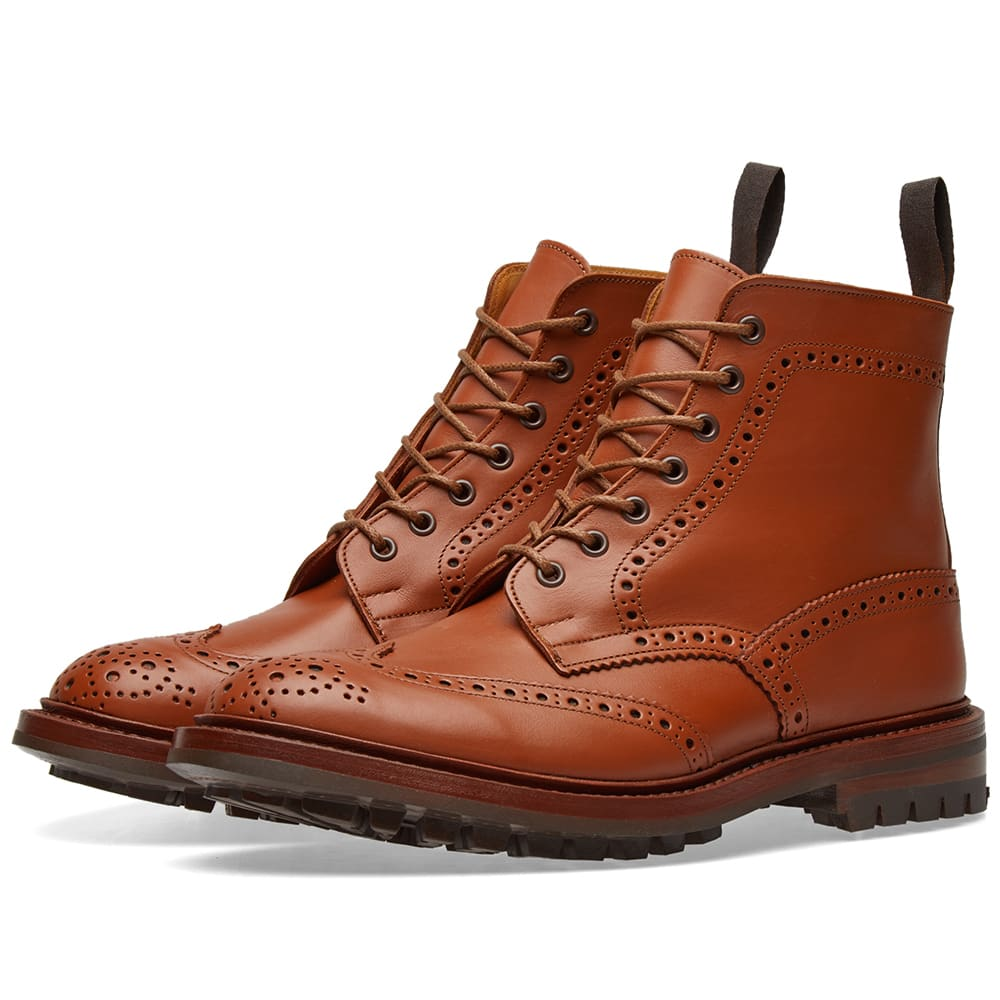 Photo: Tricker's Commando Sole Malton Brogue Derby Boot