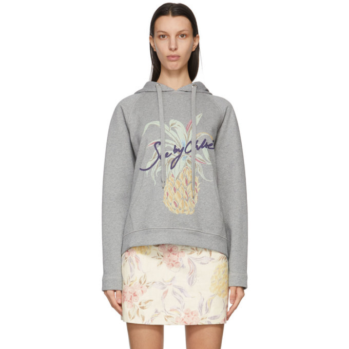 Photo: See by Chloe Grey Logo Graphic Hoodie