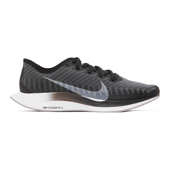 Photo: Nike Grey and Black Zoom Pegasus Turbo 2 Sneakers