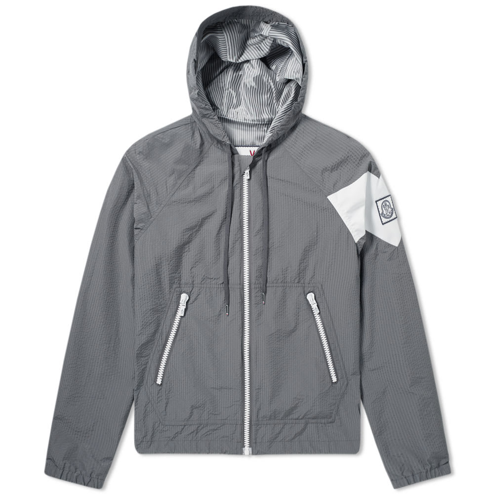 Photo: Moncler Gamme Bleu Seersucker Hooded Jacket
