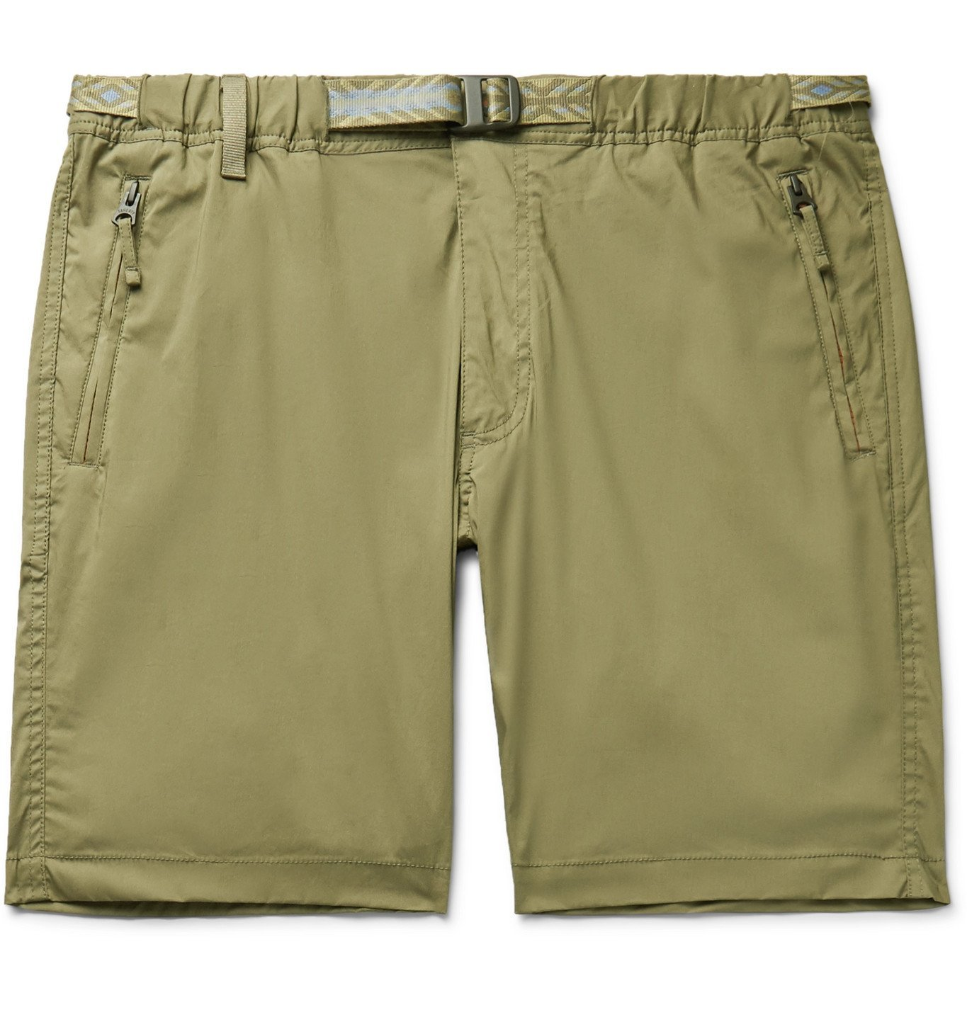Photo: Faherty - Rockpoint Belted Cotton-Blend Shell Shorts - Neutrals