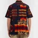 Sacai - Pendleton Camp-Collar Printed Cotton-Corduroy Shirt - Men - Navy