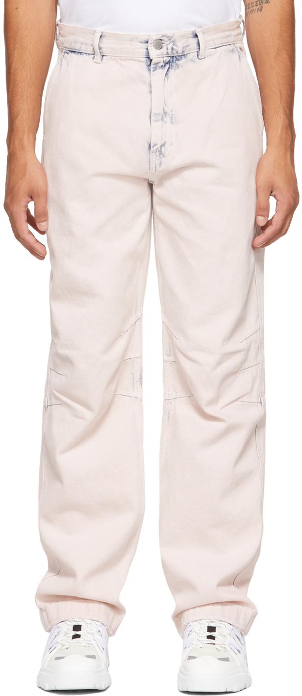 Photo: MCQ Pink Workwear Jeans
