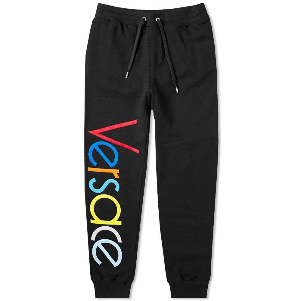 Photo: Versace Logo Embroidered Multicolour Sweat Pant