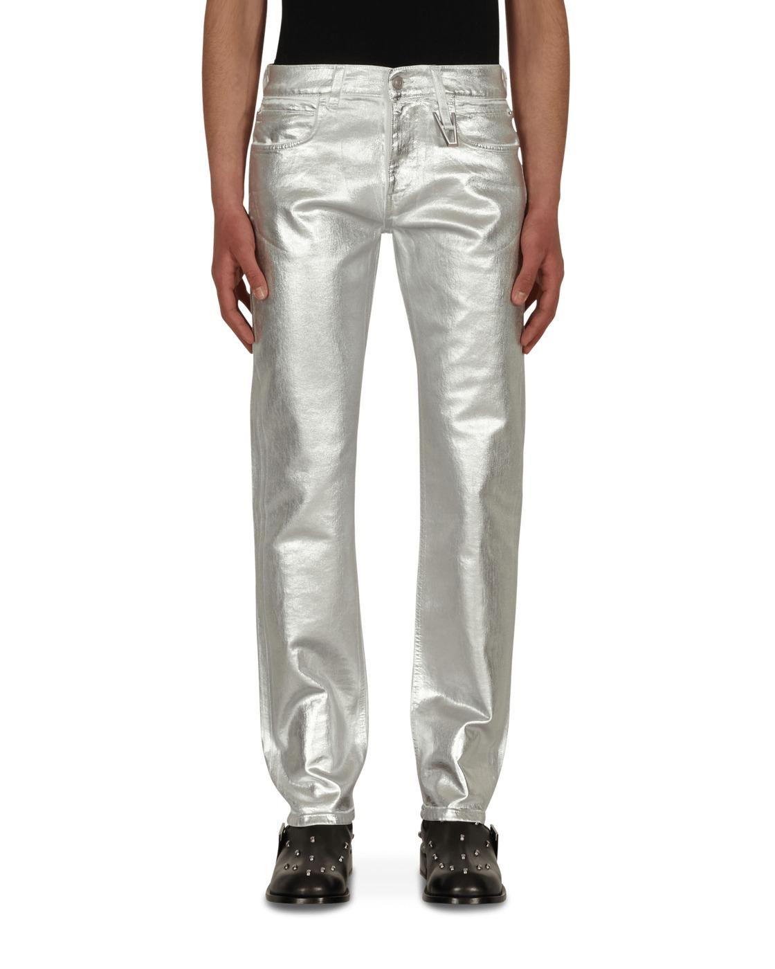 Photo: 1017 Alyx 9sm Foil Denim Pants White