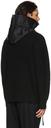 Sacai Black Wool Knit Zip-Up