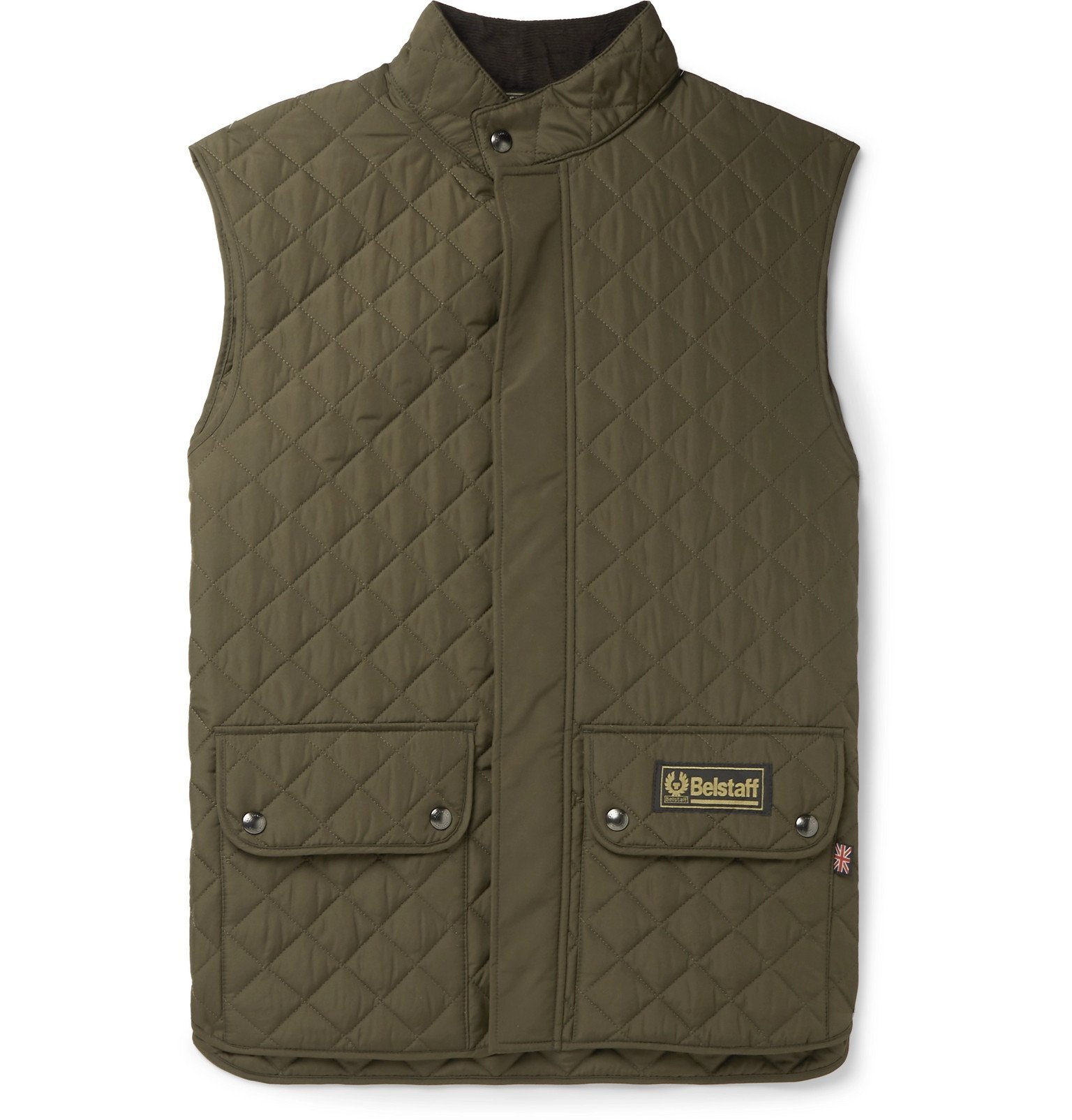 Photo: Belstaff - Quilted Shell Gilet - Green