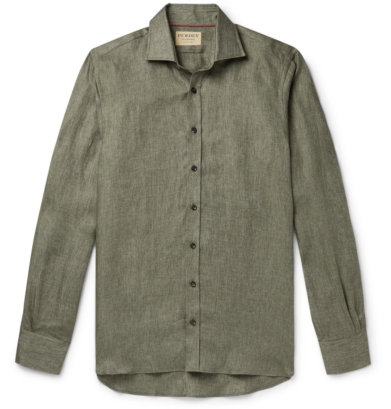 Photo: Purdey - Linen-Twill Shirt - Green