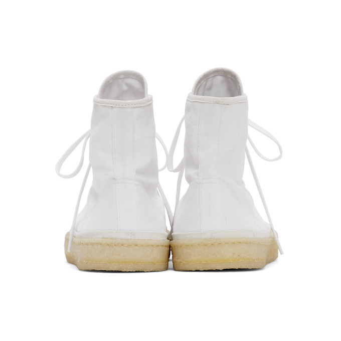 Lemaire White Canvas High-Top Sneakers