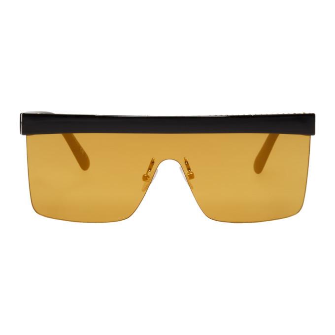 Photo: Stella McCartney Black and Yellow Falabella Shield Sunglasses