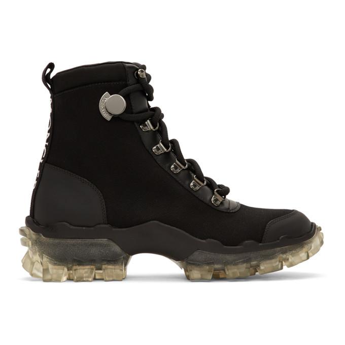Photo: Moncler Black Canvas Helis Boots