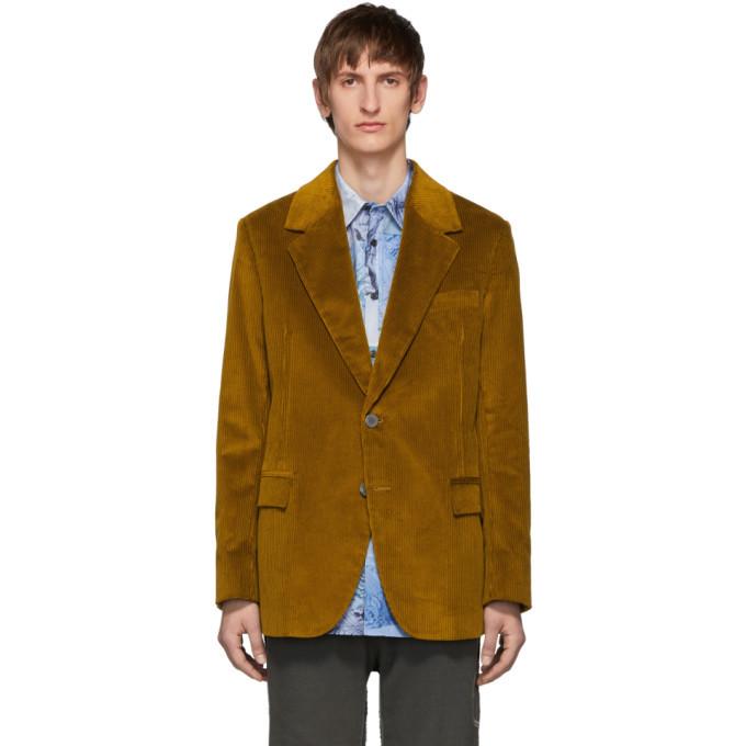 Photo: Acne Studios Yellow Corduroy Suit Blazer