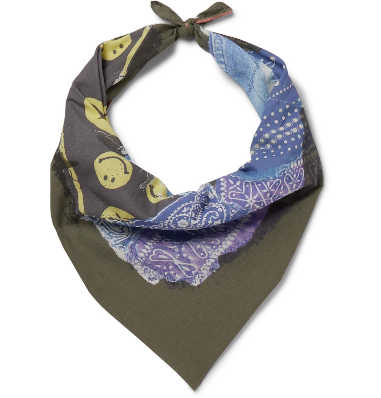 Photo: KAPITAL - Printed Cotton Bandana - Green