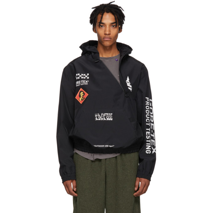 Photo: Off-White Black and White Gore-Tex® Hooded Jacket
