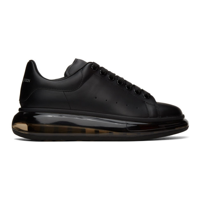 Photo: Alexander McQueen Black Clear Sole Oversized Sneakers