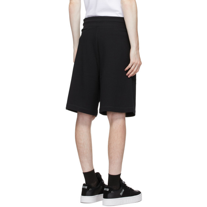 Versace Jeans Couture Black Logo Sweat Shorts