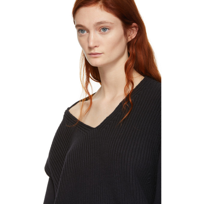 alexanderwang.t Black Utility V-Neck Sweater