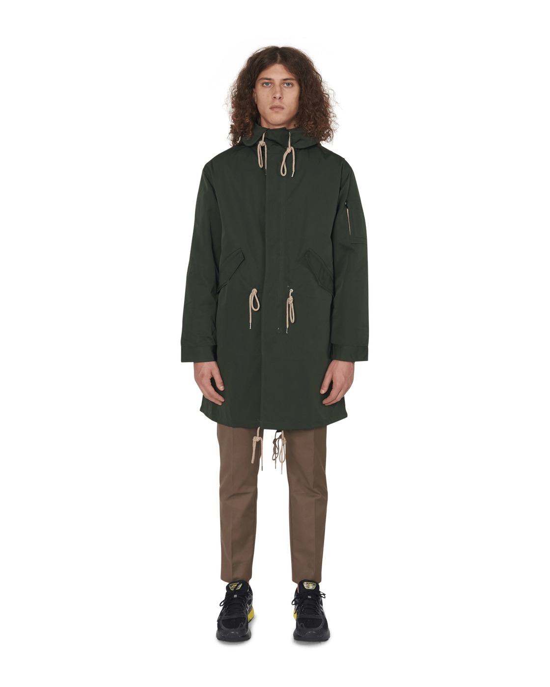 Photo: Wood Wood William Parka Coat Dark Green