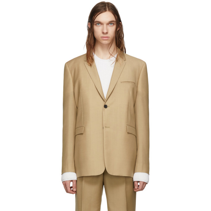 Photo: Bottega Veneta Tan Wool Blazer