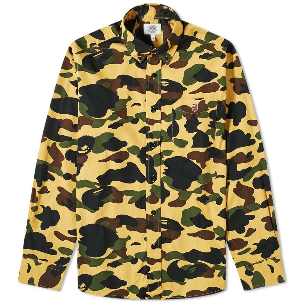 Photo: A Bathing Ape Button Down 1st Camo Shirt