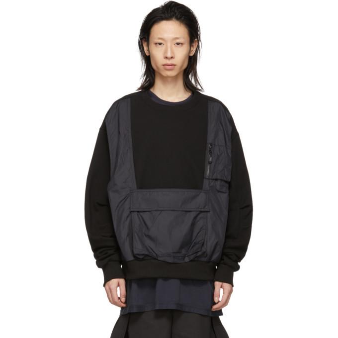 Photo: D.Gnak by Kang.D Black Vest Pocket Sweatshirt
