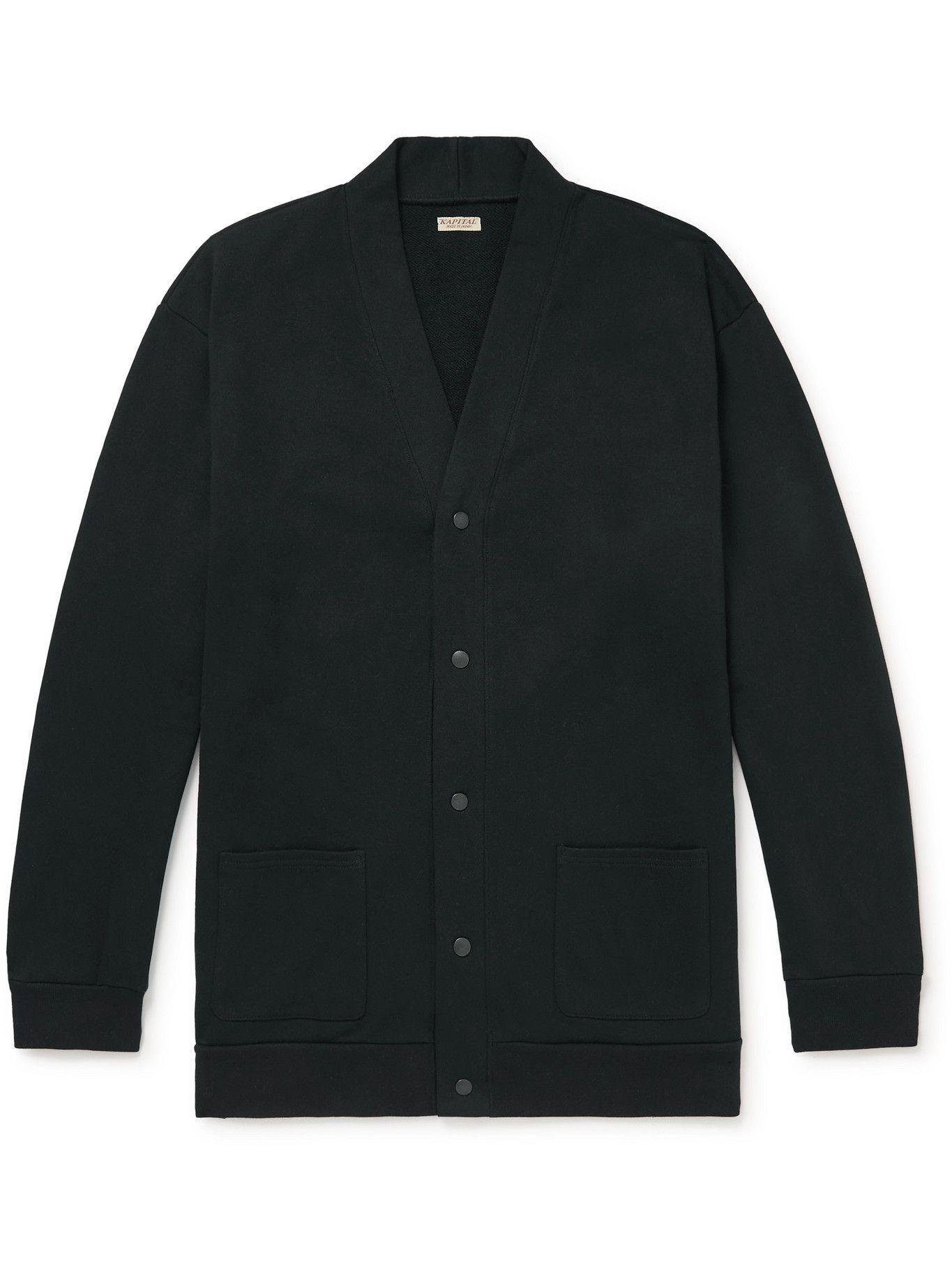 Photo: KAPITAL - Eco Printed Cotton Cardigan - Black