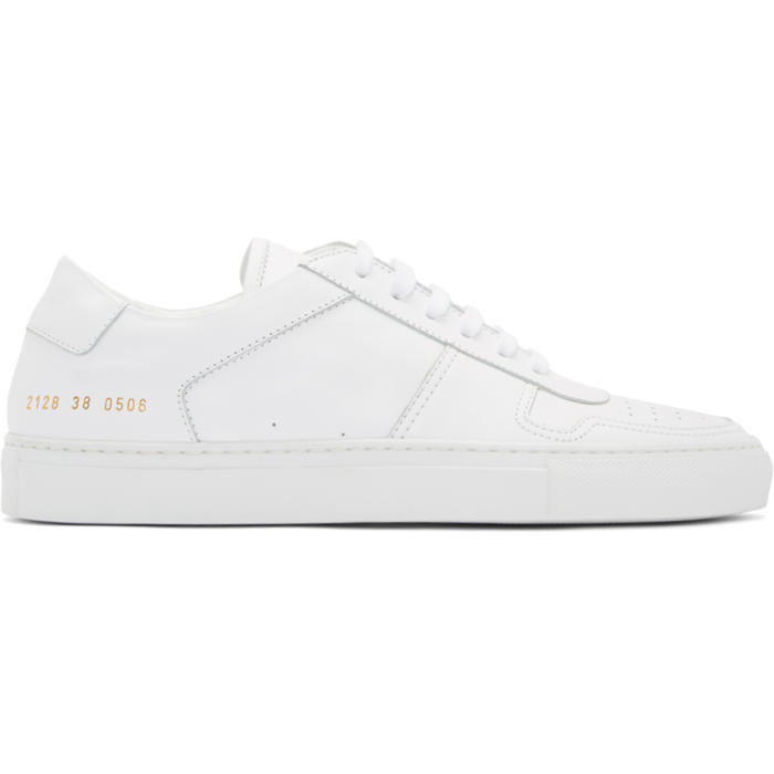 Common Projects White B-Ball Low Sneakers