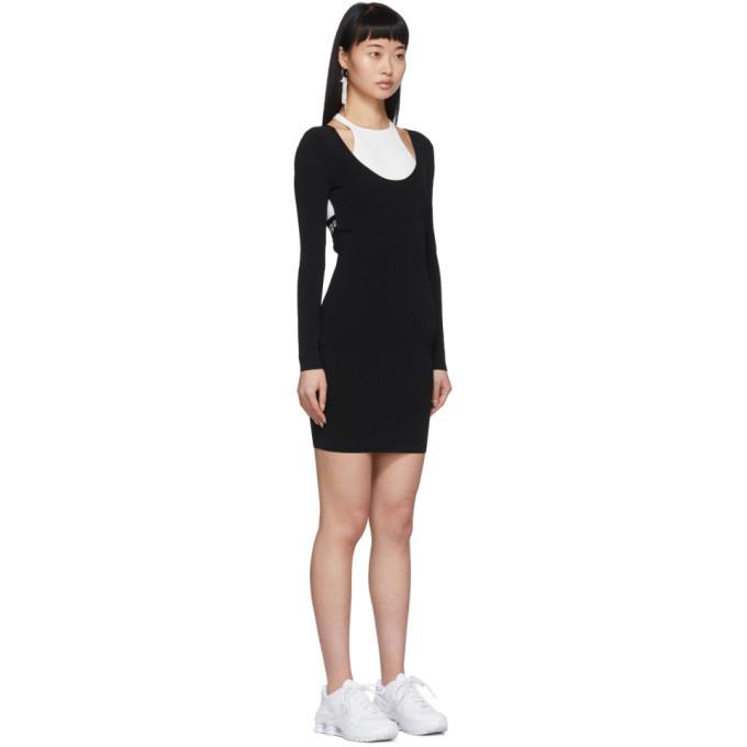 alexanderwang.t Black and White Bi-Layer Dress