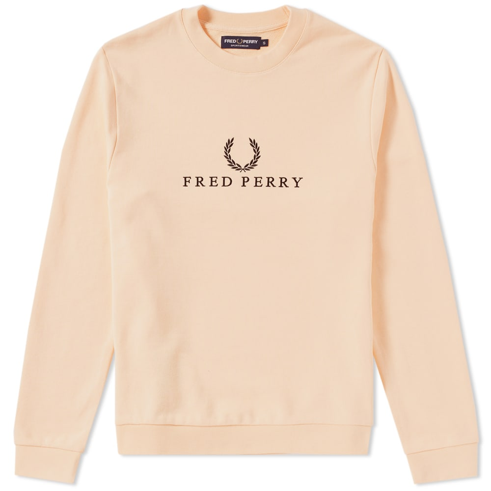 Photo: Fred Perry Embroidered Sweat Orange