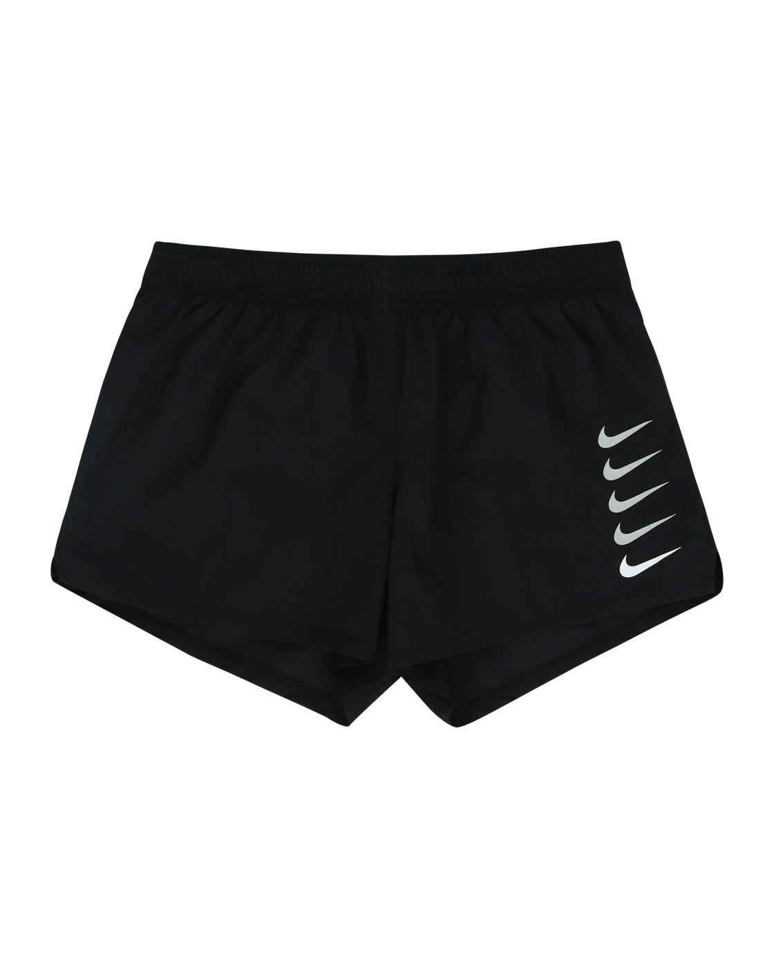 Photo: Nike Swoosh Run Shorts Black/White