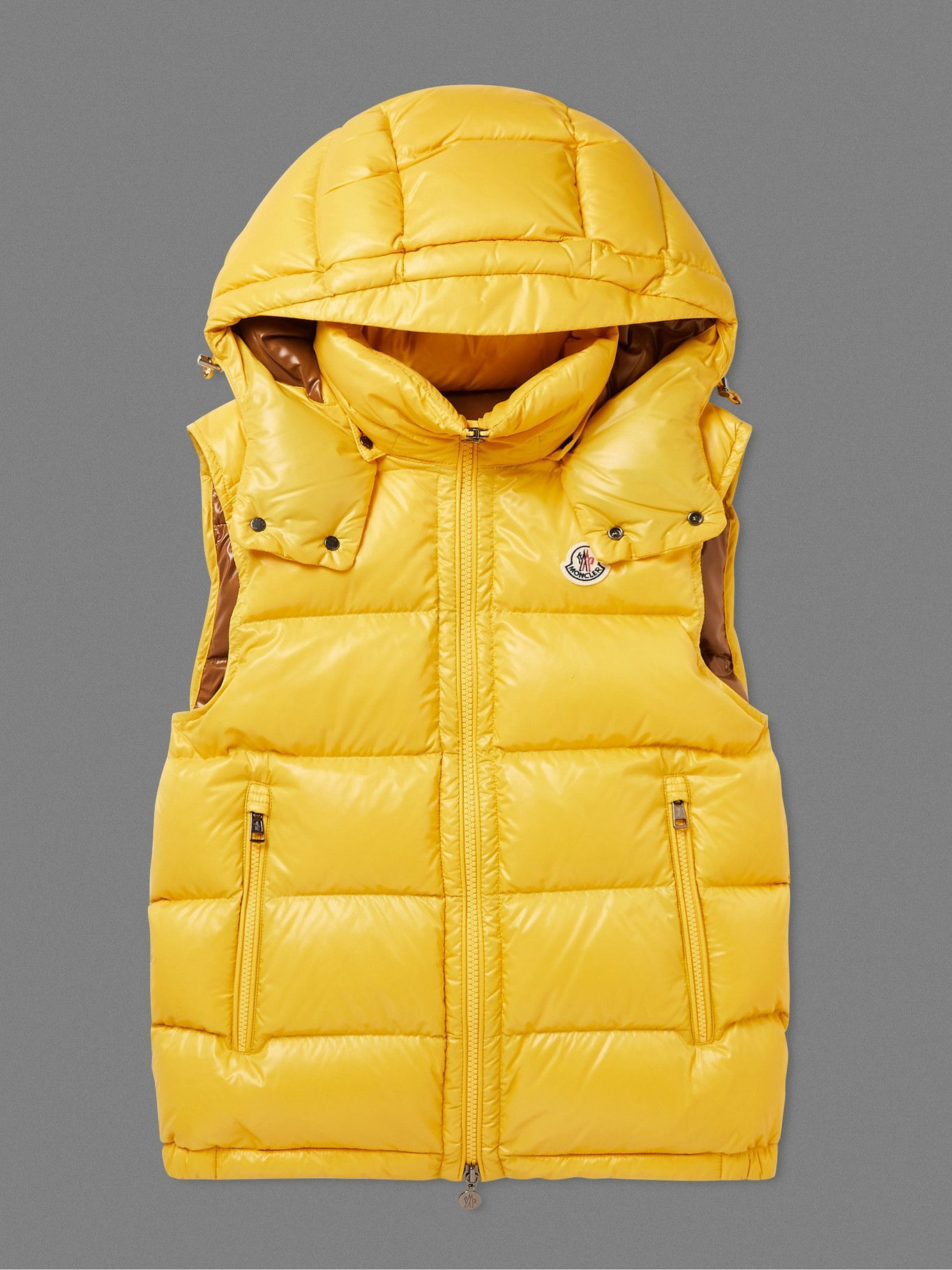 Photo: Moncler - Bormes Quilted Nylon Down Hooded Gilet - Yellow