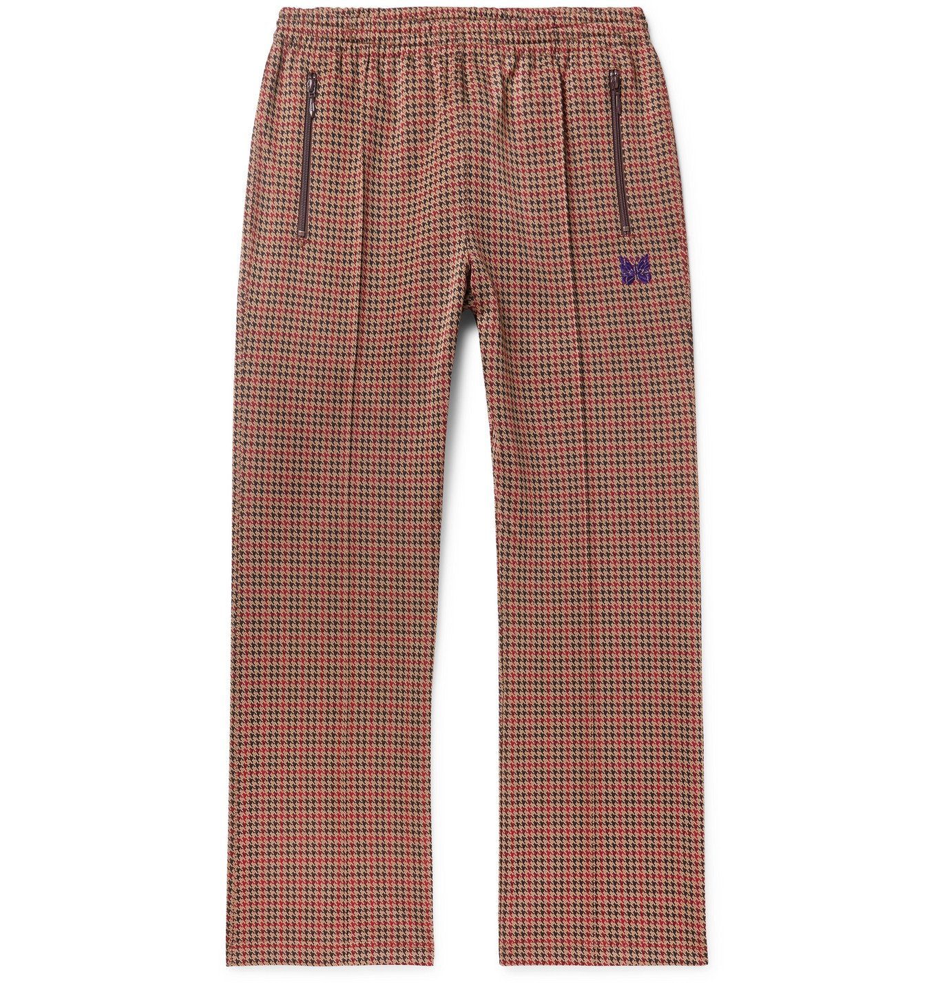 Photo: Needles - Logo-Embroidered Houndstooth Jacquard Track Pants - Brown