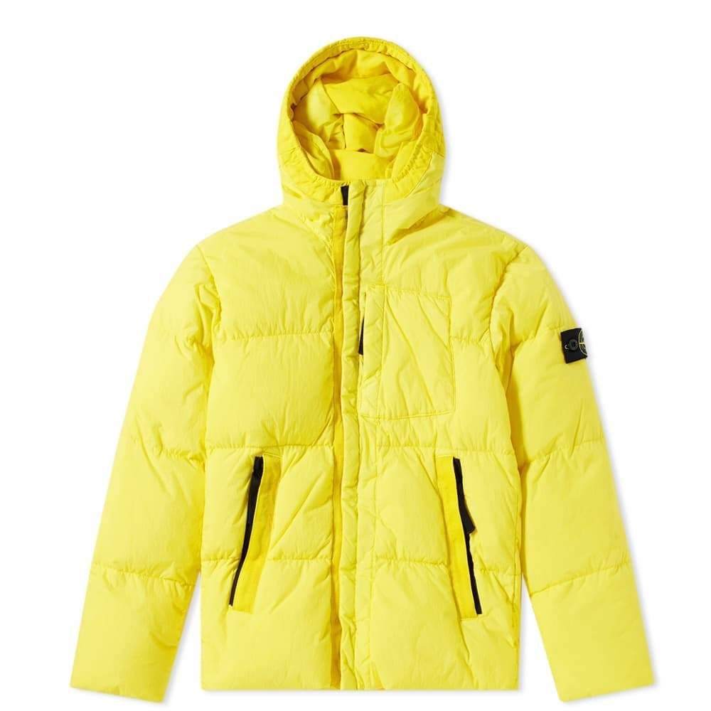 Photo: Stone Island Junior Down Filled Crinkle Reps Hooded Jacket
