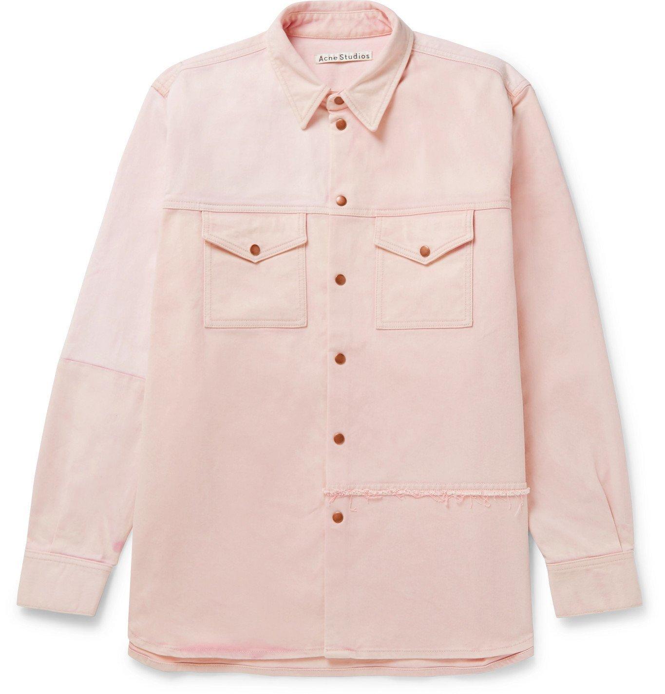 Photo: Acne Studios - Panelled Denim Overshirt - Pink