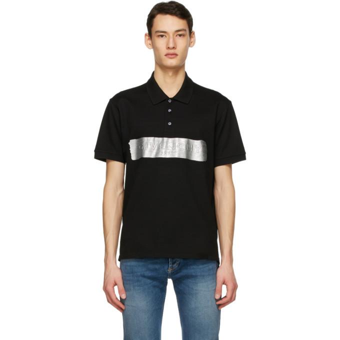 Photo: Givenchy Black Latex Logo Polo