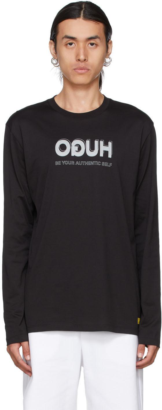 Photo: Hugo Black Smiley Edition Reversed Logo Long Sleeve Shirt