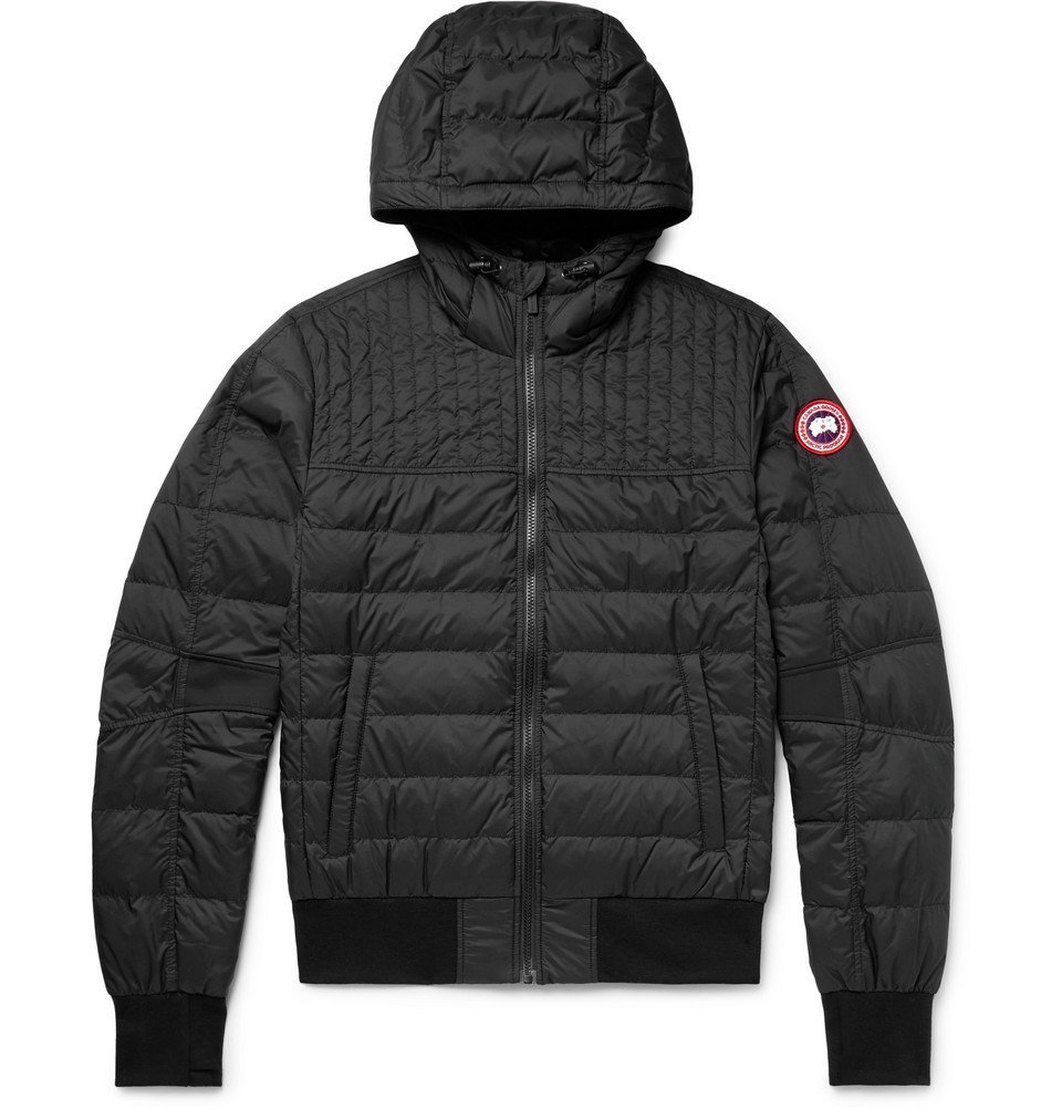 Photo: Canada Goose - Cabri Slim-Fit Quilted Nylon-Ripstop Hooded Down Jacket - Black