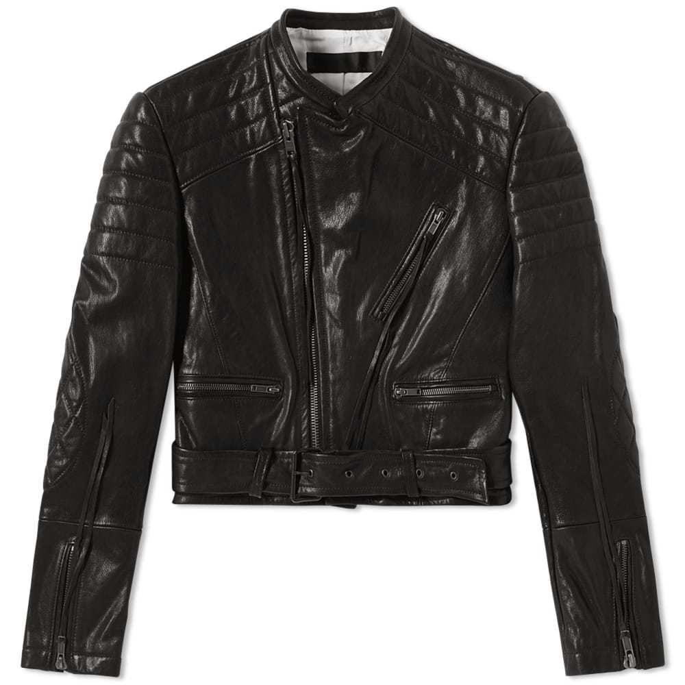 Photo: Haider Ackermann Leather Biker Jacket Black