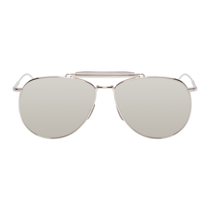 Photo: Thom Browne Silver Limited Edition TB-015 Sunglasses
