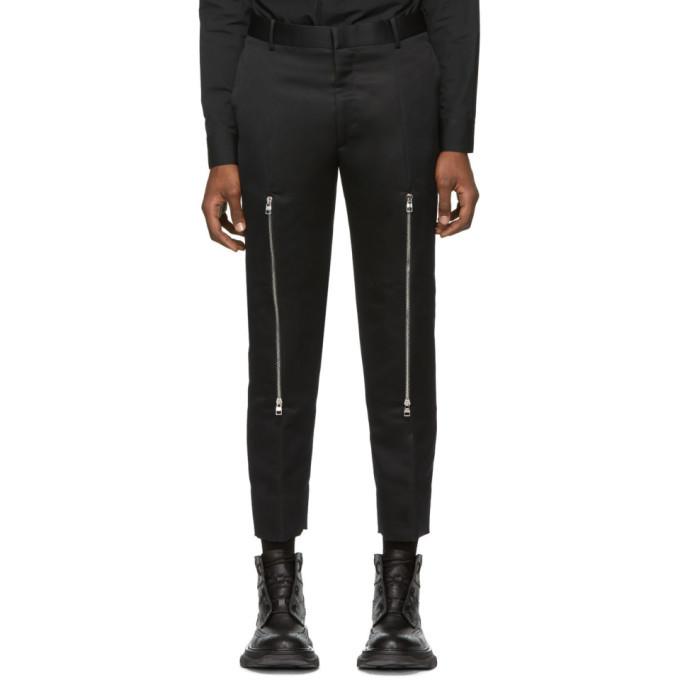 Photo: Alexander McQueen Black Knee Zip Trousers