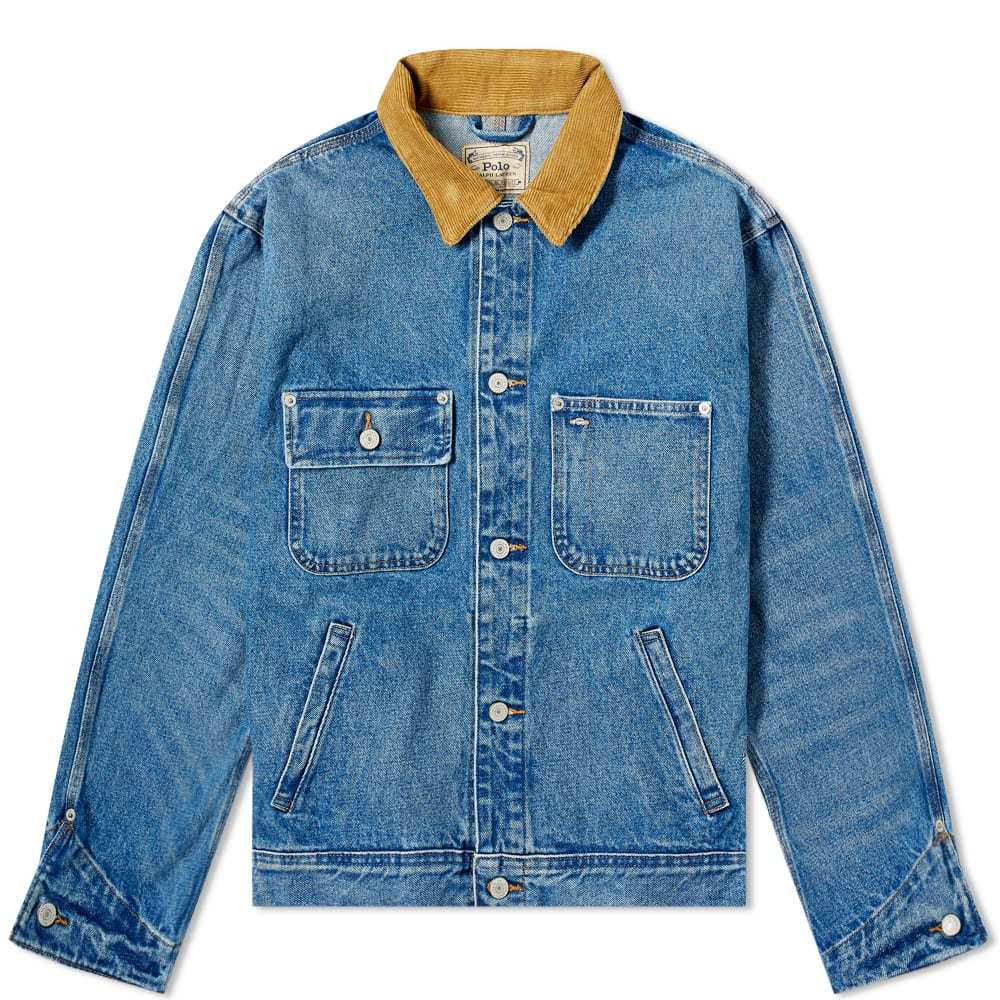 Photo: Polo Ralph Lauren Cord Collar Denim Worker Jacket