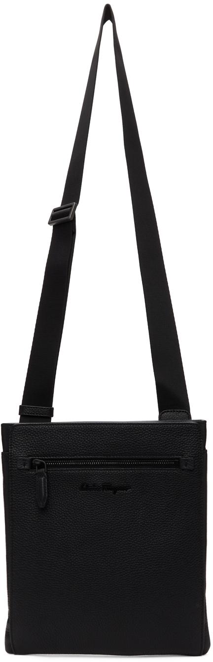 Photo: Salvatore Ferragamo Black Grained Messenger Bag