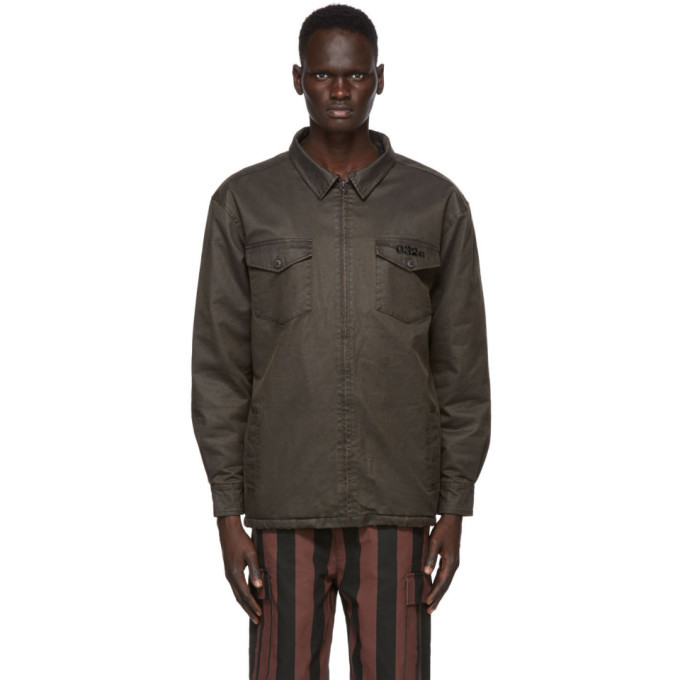 Photo: 032c Brown Waxed Military Shirt