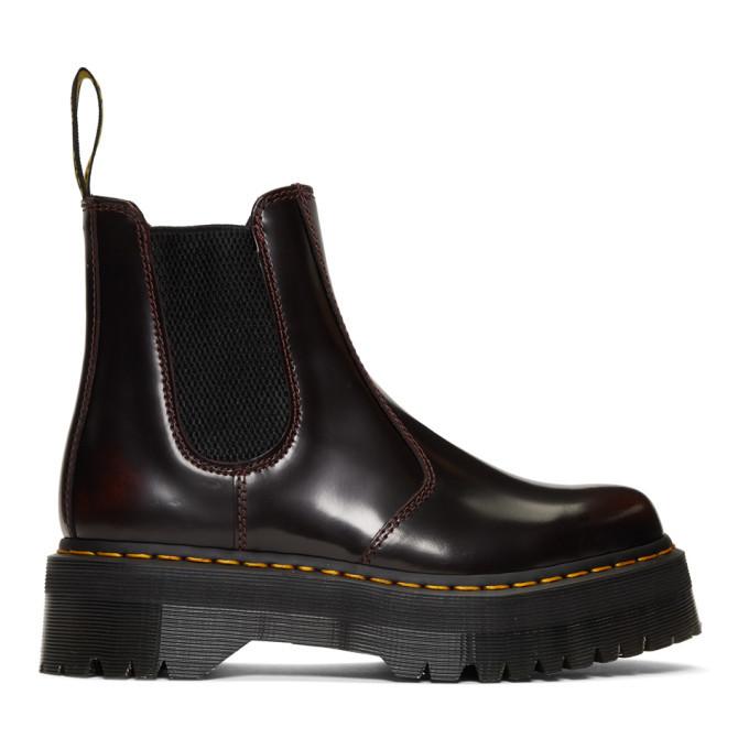 Photo: Dr. Martens Burgundy 2976 Quad Chelsea Boots