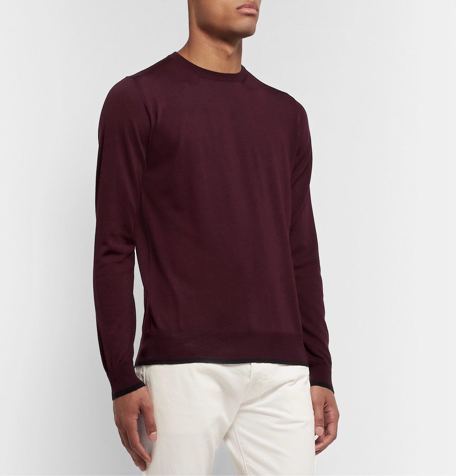 Tod's - Merino Wool Sweater - Burgundy