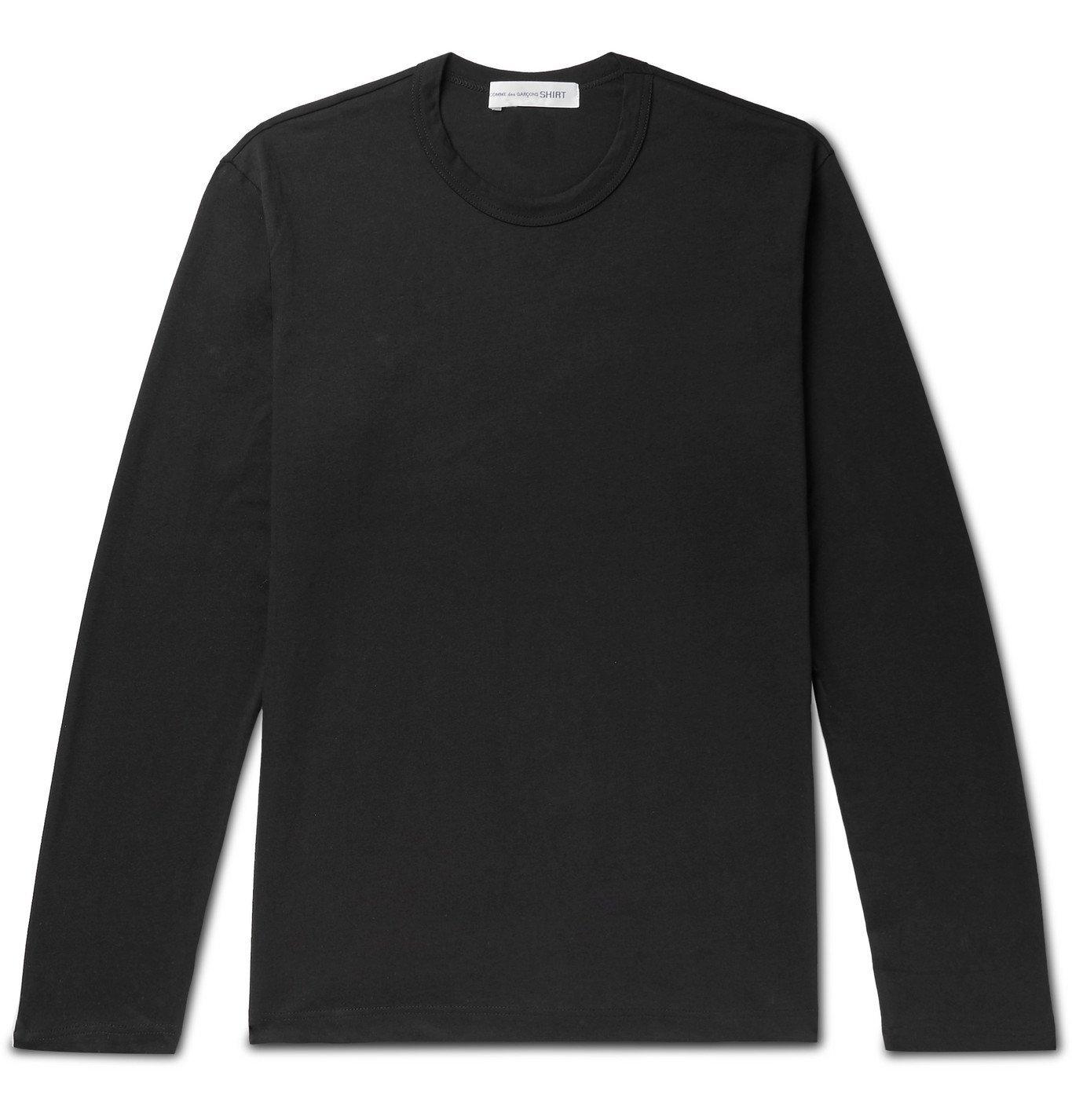 Photo: Comme des Garçons SHIRT - Logo-Print Cotton-Jersey T-Shirt - Black