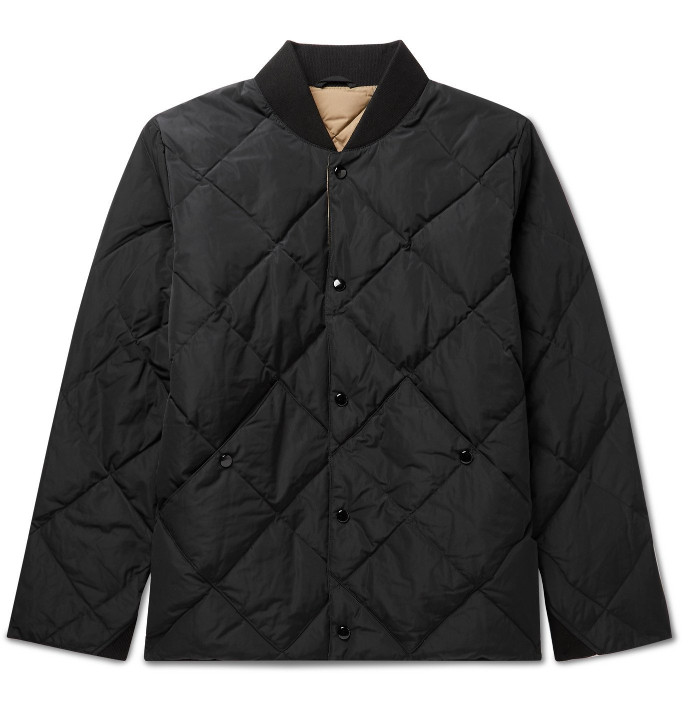 Photo: Bellerose - Quilted Shell Down Bomber Jacket - Black