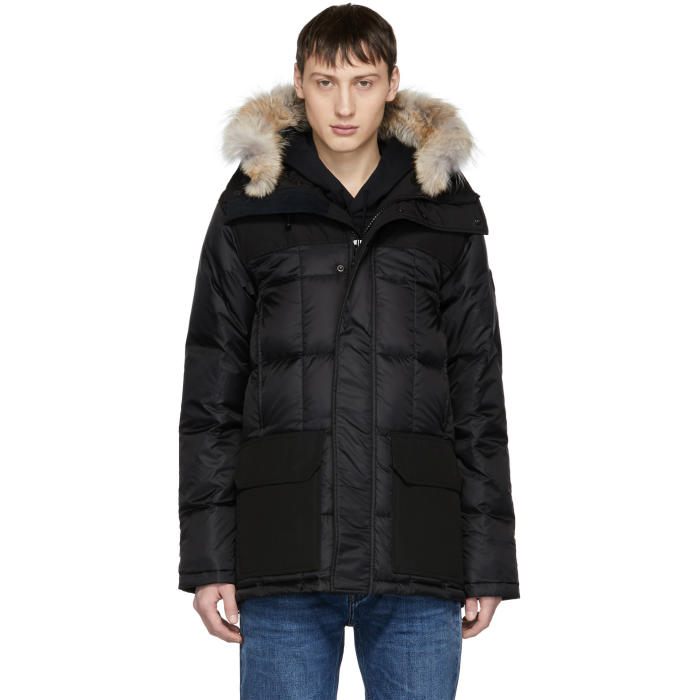 Photo: Canada Goose Black Black Label Down and Fur Callaghan Parka