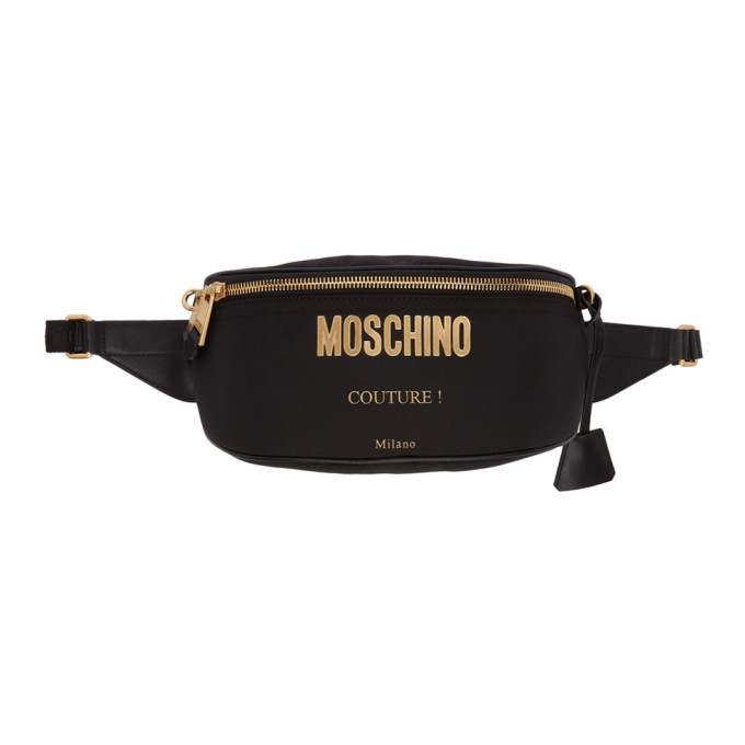 Moschino Black Couture Fanny Pack