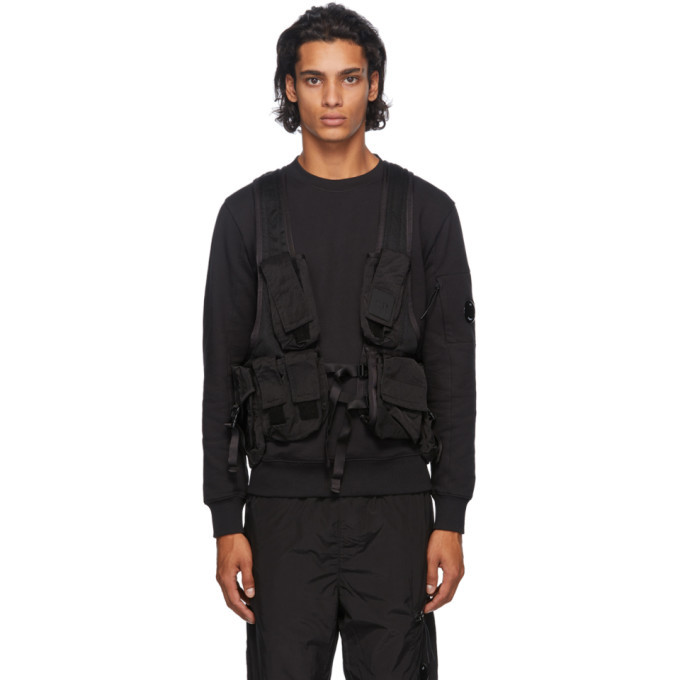C.P. Company Black Backpack Utility Vest